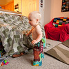 Hyperactive from all that sugar, he went on a rampage around the lounge room, crawling like a mad thing, and doing lots of standing and not quite walking