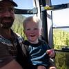 <b>7 September 2012</b>  Riding the gondola up Sulphur Mountain with Papa