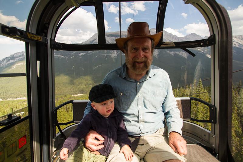 <b>28 August 2012</b> Sulphur Mountain gondola ride with Zaida