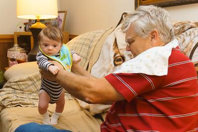 Grandpa Gladfelter with Jackson