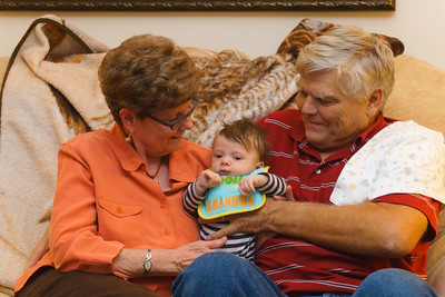 Grandma and Grandpa Gladfelter with Jackson