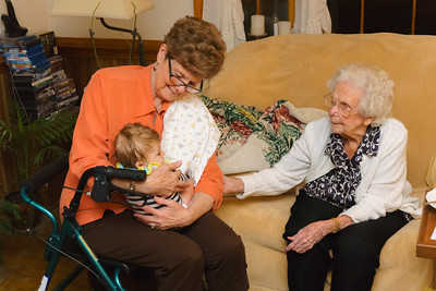 Grandma Gladfelter and Great Grandma O'Kelly with Jackson