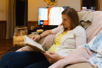 Helen reading Donnie's Baby Book