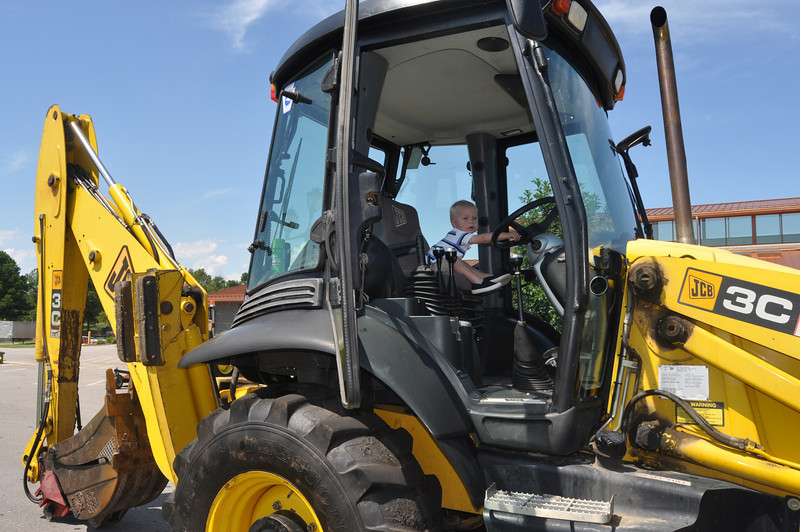 "We missed all the events of the NCDOT Roadeo, but ""driving"" the backhoe was probably just as fun!"