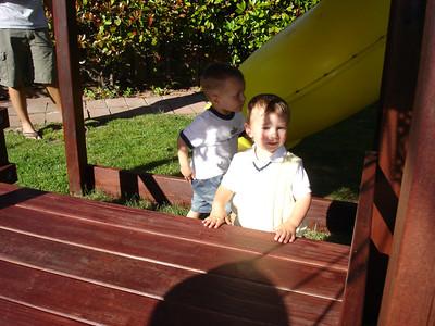 Aedan has a park in his backyard!