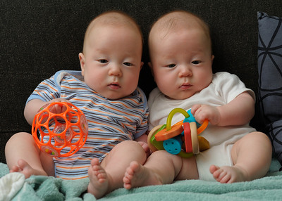 Tyler on the left and Aiden on the right