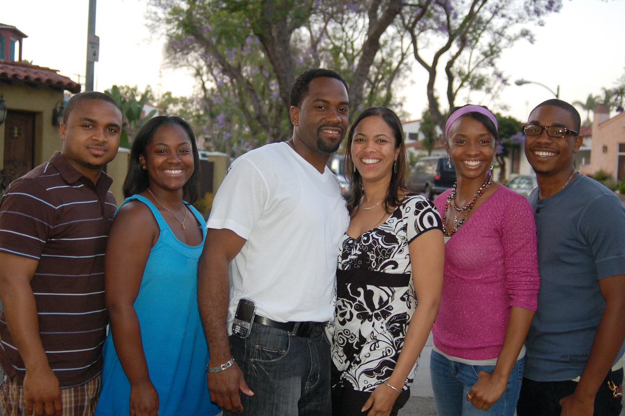 From Left:  Jaaye (cousin-my youngest), Tiffany, Zach (soon to be cousin in law), Alaina (cousin-Gina's oldest), Tianna (cousin-Mit's youngest) and Evan (long time friend),