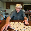 Carroll on a Mexican train domino afternoon in Slocumb AL
