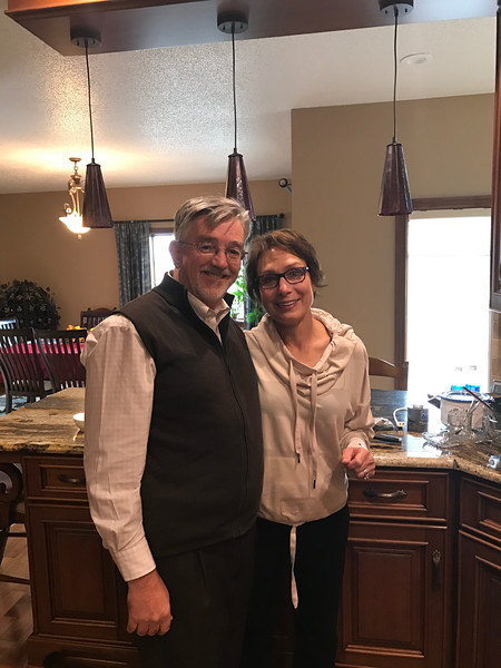 Kim and Alan in our kitchen on our anniversary 2016