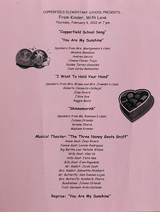 2012-02-09 Kindergarten music program