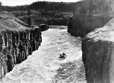 When the rivers weren't iced-over, they were a quick, but dangerous way to get back to civilization.