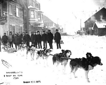A typical winter scene in Dawson City, Yukon Territory when Richard Baylis was there.