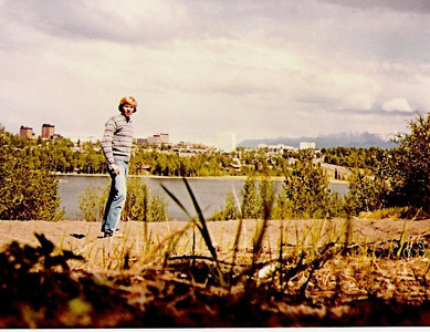 This is me upon my arrival in Anchorage.  Before I left Portland, Lloyd and Diana had put me in touch with another relative, Roger Smith, who had been living in Anchorage with his family for many years.  Roger was the adopted son of my father's uncle, Dick Smith, who had migrated to Alaska after World War II.  The Smith family invited me to stay with them for a few days before I began my work with Prince William Cruises.