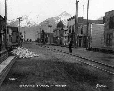 Dreary, dirty Skagway as Richard Baylis may have known it.