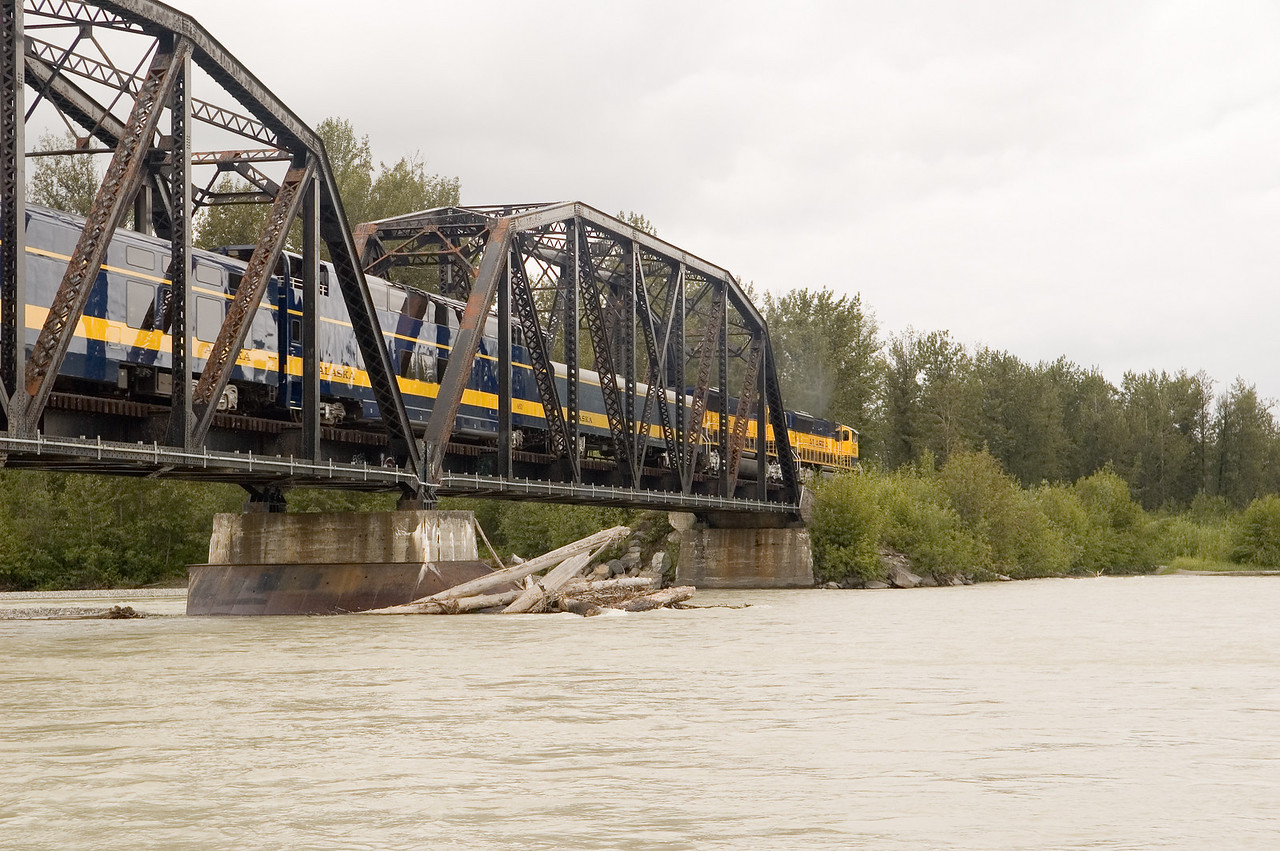 This is the Alaska railroad which is another way to get around Alaska.