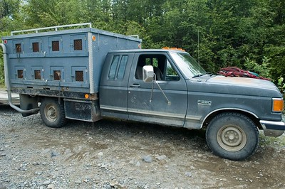 This is a truck that holds the Iditerad dogs (one in each compartment on the side of the truck).