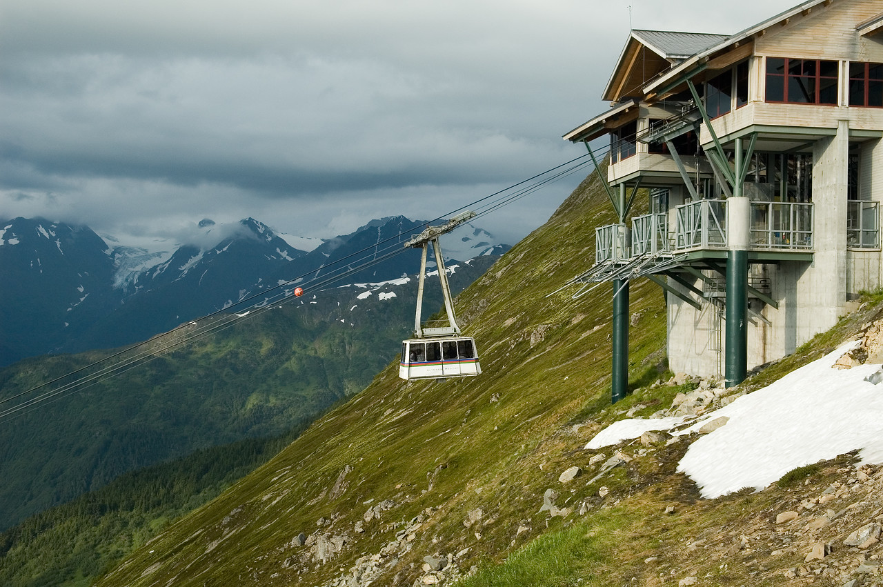 This is the gondola that we rode to the top of the Alyeska mountain in.  We had dinner at the top of the mountain.