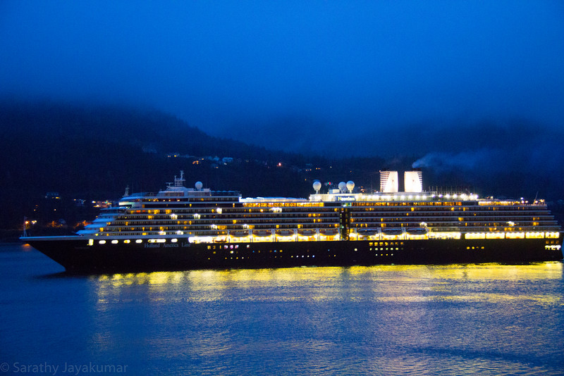 Noordam Departing from Juneau along with us