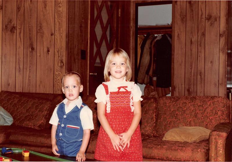 November 1983<br /> 262 Marich Way, Los Altos<br /> Craig (3) and Teresa (4 1/2)