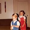 December 25, 1983<br /> 262 Marich Way, Los Altos, CA<br /> Craig (3) & Teresa (4 1/2) walking in Christmas morning.