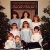 Christmas 1983<br /> Spencer children<br /> L to R (top to bottom)--Heather, Kiersten, Jennifer, Darci, Rachel, Heidi, Natalie, Richard III.