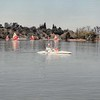 April 1984<br /> Vasona Lake (near Los Gatos, CA)<br /> Bob and Teresa in boat