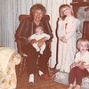 April 1984<br /> Maarti and Kent's in Sunnyvale, CA<br /> Mom M. holding Benjamin (2 1/2 mths.), Teresa (5) and Ryan (4)