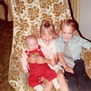 April 22, 1984--Easter Sunday<br /> 262 Marich Way, Los Altos, Ca<br /> Benjamin (3 mths.), Teresa (5) and Craig (3)