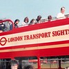 April 1, 1990<br /> London, England<br /> double decker tour bus<br /> me (with sunglasses) up top getting off after tour