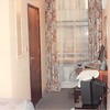 March 31, 1990<br /> London Visitors Hotel<br /> London, England<br /> our hotel room (door is to 3' x 6' bathroom) on 3rd floor