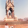 April 1, 1990<br /> London, England<br /> statue in Hyde Park<br /> me with very tired feet (we were searching for the church, but never found it)