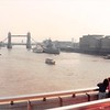 April 1, 1990<br /> London, England<br /> Tower Bridge (view from London Bridge from tour bus)