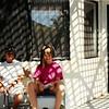 Aug. 1993<br /> Dangerfield's house<br /> Matt (14) & Cindy (7) having her hair cut