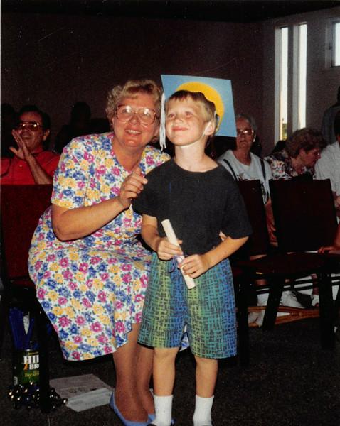 June 1993<br /> Shepherd of the Hills preschool--Vacaville, CA<br /> Daniel's graduation<br /> Miss Barbara & Daniel (5)