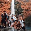 4-99 <br /> Scout Arizona trip<br /> Ben (back row just to the left of the waterfall)
