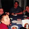 1-01<br /> 262 Marich Way, Los Altos<br /> Cindy, Steven, Ben and Daniel enjoying Ben's birthday cake