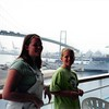 7-01<br /> Port of Los Angeles--waiting to disembark<br /> Cindy and Steven