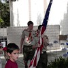 7-4-01<br /> Flag ceremony at Los Altos ward breakfast<br /> Daniel (13) and Tanner Rhodes<br /> (also Kristi Riches and Chase Wheatley)
