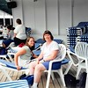 7-01<br /> Port of Los Angeles--waiting to disembark<br /> Cindy and mom