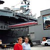 """8-03  """"Intrepid""""  museum (former aircraft carrier) in NYC<br /> Steven and Teresa"""