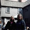 10-11-04<br /> Paul Revere's house, Boston, MA<br /> Susie and Rachel