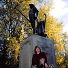 10-10-04<br /> Old North Bridge, Concord, MA<br /> Minute Men statue<br /> Jeremy, Janean, Sarah and Allison