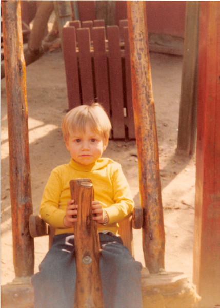 Dec. 1981<br /> Knott's Berry Farm<br /> Wes Cardall (almost 3)