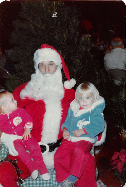 Dec. 1981<br /> Palo Alto 1st ward Christmas party<br /> Craig (one yr.), Sant, and Teresa (2 1/2)