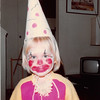 October 1981<br /> 144-D Escondido Village, Stanford, CA<br /> Halloween--Teresa (2 1/2) dressed as a clown for Primary party and Trick or Treating.