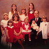 Christmas 1981<br /> Dick & Janean Spencer Family<br /> Heather (12), Kiersten (11), Jennifer (9), Rachel (8), Darcy (5), Heidi (3), Natalie (2), Richard the 3rd (one month)