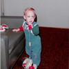 Nov. 23, 1981<br /> 144-D Escondido Village, Stanford, CA<br /> Craig's birthday (one year) showing us his corn popper.