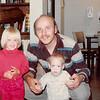 October 1981<br /> 144-D Escondido Village, Stanford, CA<br /> Teresa (2 1/2 yrs.), daddy, and Craig (11 months).
