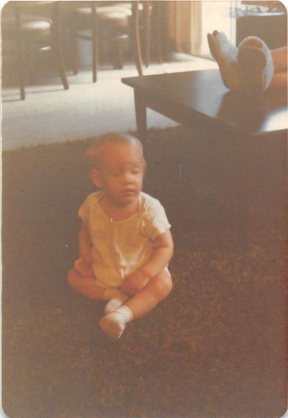 Nov. 1981<br /> 144-D Escondido Village, Stanford, CA<br /> Craig (11 months)