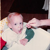 Nov. 23, 1981<br /> 144-D Escondido Village, Stanford, CA<br /> Craig first birthday eating ice cream.
